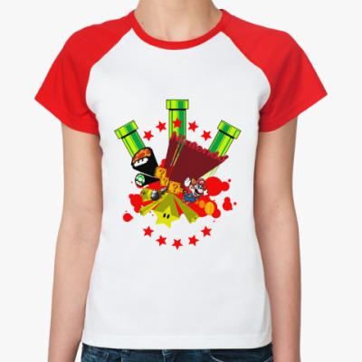 Женская футболка реглан Nintendo  Ж(б/к)