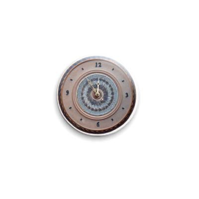 """Значок 25мм  """"Часы"""""""