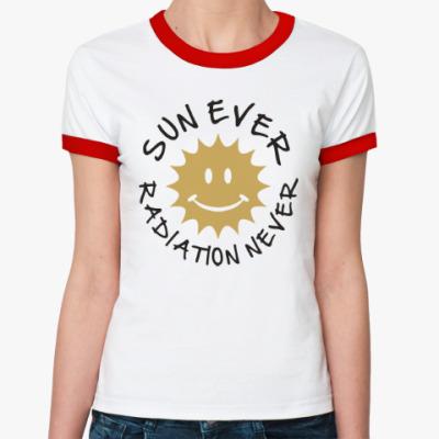Женская футболка Ringer-T Солнце всегда