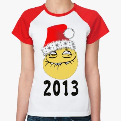 Женская футболка реглан Peka face 2013