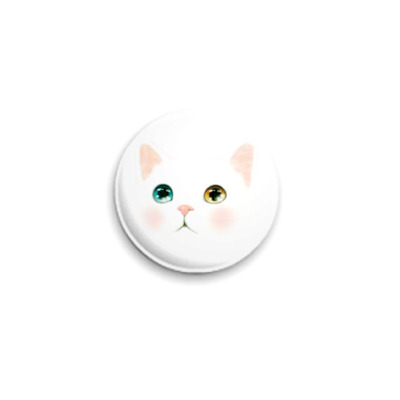 Значок 25мм   Снежный кот