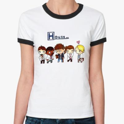 Женская футболка Ringer-T House mult  Ж()