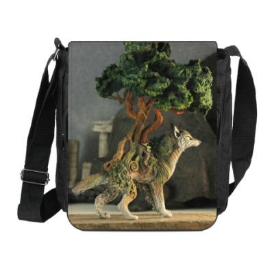 Сумка на плечо (мини-планшет) Волк-бонсай