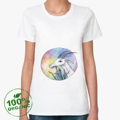 Женская футболка из органик-хлопка Коза