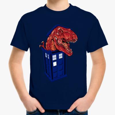 Детская футболка Динозавр в Тардисе
