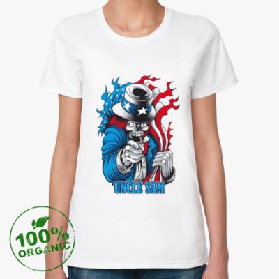 Женская футболка из органик-хлопка Uncle sam