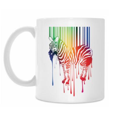 Кружка Цветная зебра
