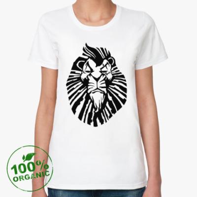 Женская футболка из органик-хлопка Важный лев