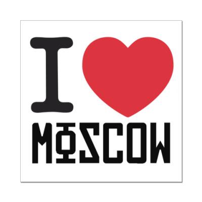 Наклейка (стикер) Москва