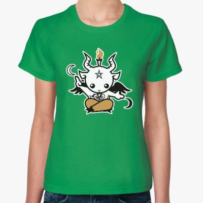 Женская футболка Бафомет