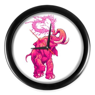 Настенные часы Счастливый слоник
