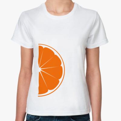 Классическая футболка Половина апельсина