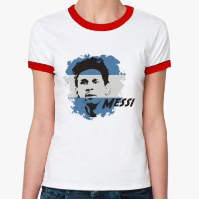 Женская футболка Ringer-T Месси