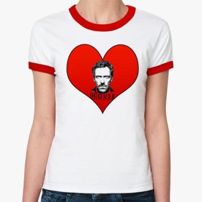 Женская футболка Ringer-T House Heart