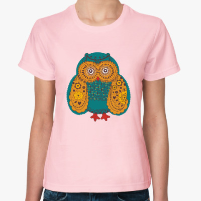 Женская футболка Сова. Птица. Bird. Пернатые.