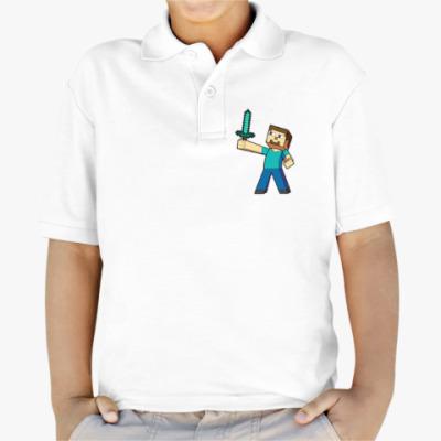 Детская рубашка поло Minecraft