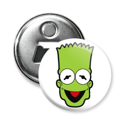 Магнит-открывашка Барт - Кермит