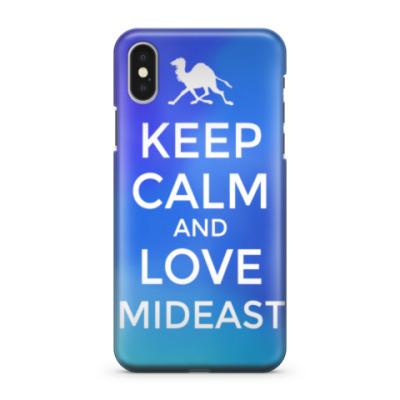 Чехол для iPhone X Keep calm and love MidEast
