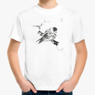 Детская футболка Воробушек