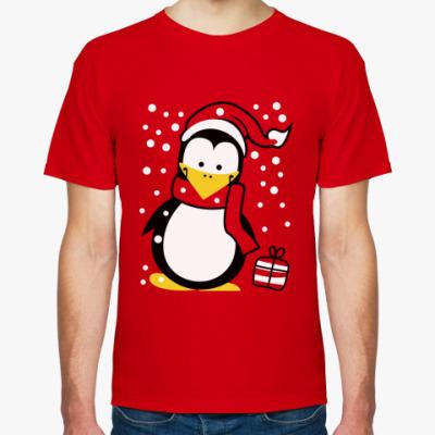 Футболка  Новогодний пингвин