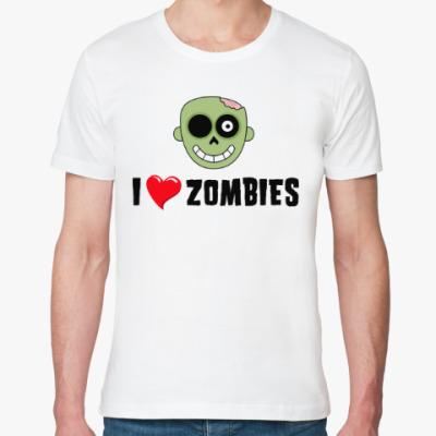 Футболка из органик-хлопка I love zombies