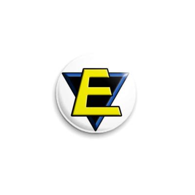 Значок 25мм E  25 мм