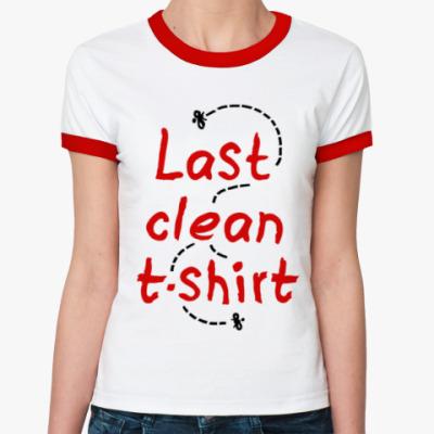 Женская футболка Ringer-T Последняя чистая майка!