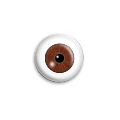 Значок 25мм  - Карий глаз