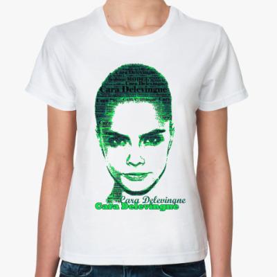Классическая футболка Cara Delevingne/Кара Делевинь