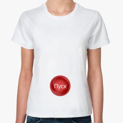 Классическая футболка пропеллер и кнопка