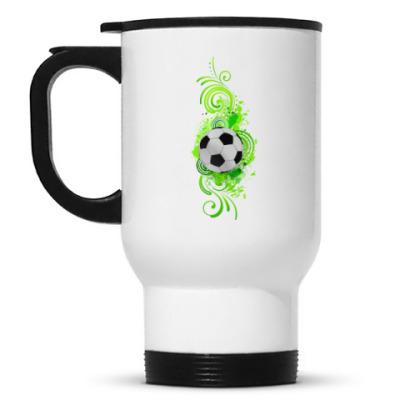 Кружка-термос Футбольный мяч
