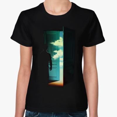 Женская футболка Дверь в Мир