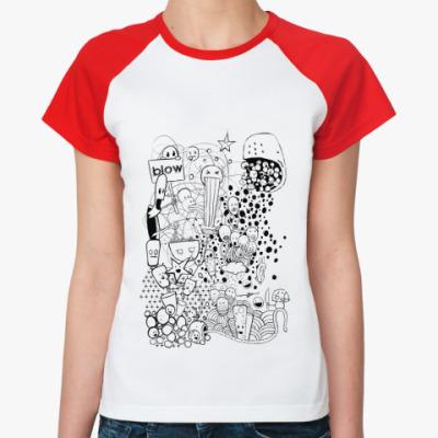 Женская футболка реглан Pictures
