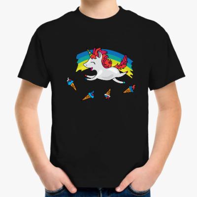 Детская футболка Милый единорог