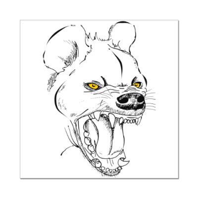 Наклейка (стикер) хохочущая гиена