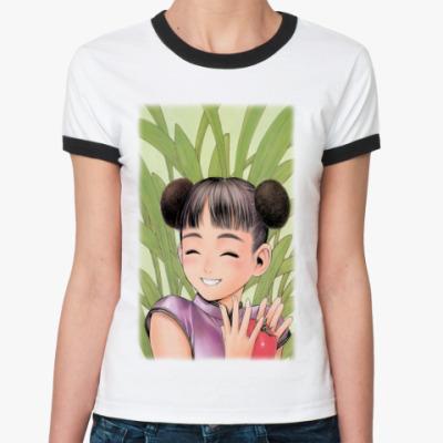 Женская футболка Ringer-T   Кавайная
