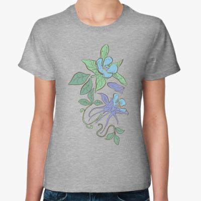 Женская футболка Нежные цветы