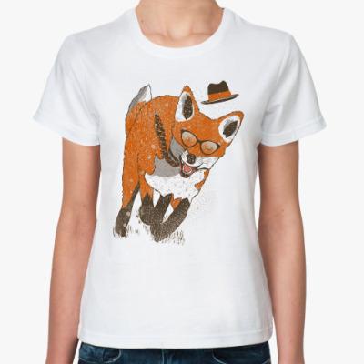 Классическая футболка Бегущий Лис