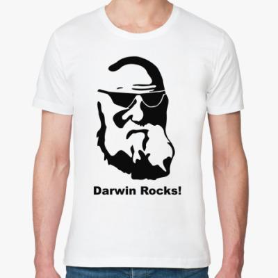 Футболка из органик-хлопка  Darwin Rocks!