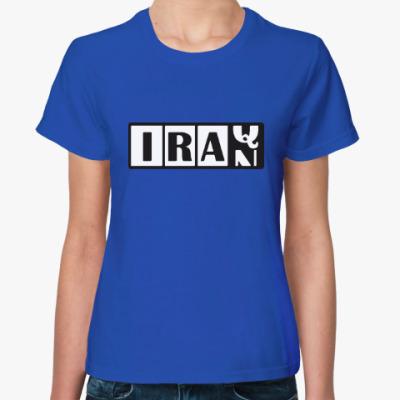 Женская футболка Иран-Ирак