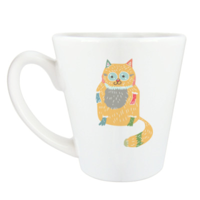 Чашка Латте Котик