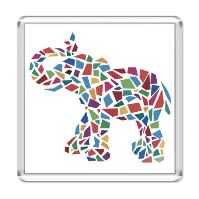 Магнит Слон - мозаика