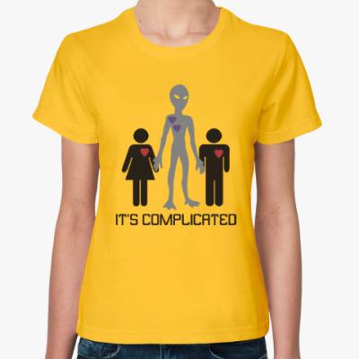 Женская футболка Всё сложно