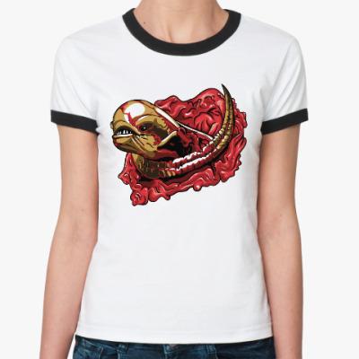 Женская футболка Ringer-T Чужой