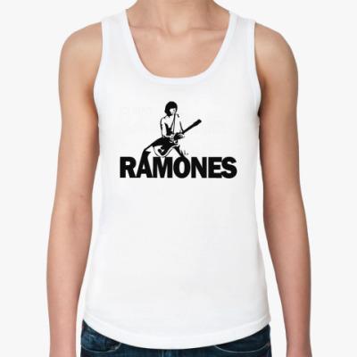 Женская майка Ramones guit  Жен майка (бел)