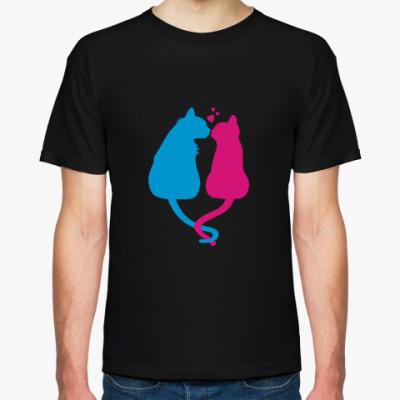 Футболка Кот и кошка
