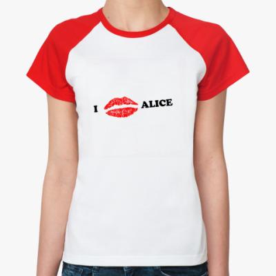 Женская футболка реглан  Love Alice