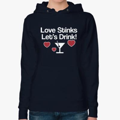 Женская толстовка худи Love Stinks