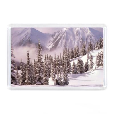 Магнит Зима в горах