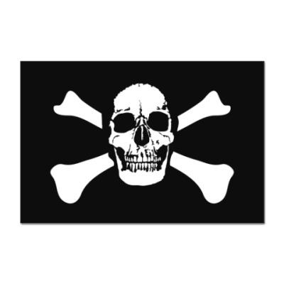 Наклейка (стикер)  Череп и кости